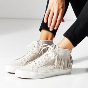 Vans | Sk8-hi Moccasin High-Top Fringe Sneakers